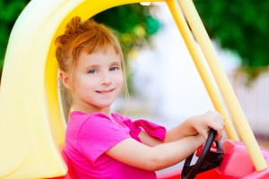Girl Drive Toy Car