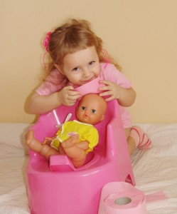 Pretend Potty Train Doll