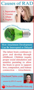 Causes of Attachment Disorder